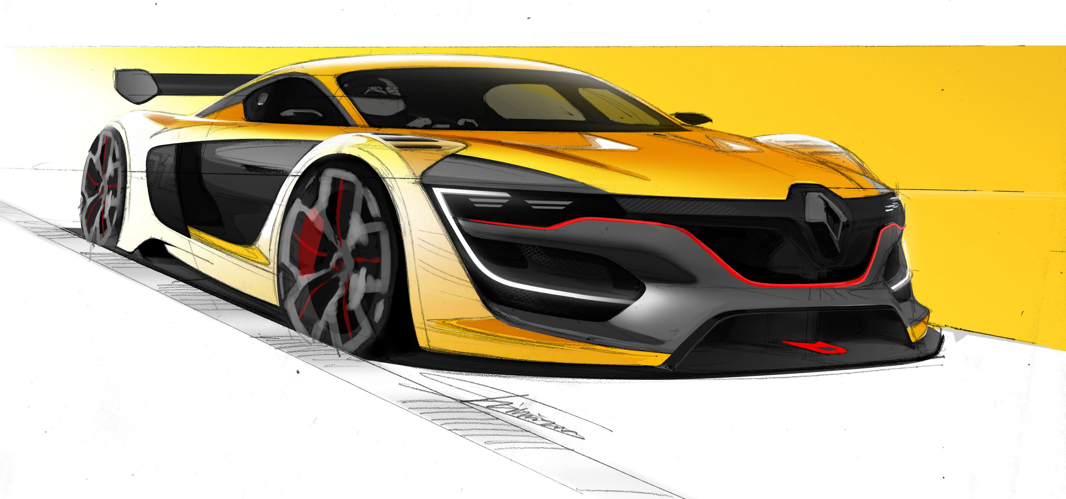 renault sport r s 01 sans compromis sketches car sketch and cars. Black Bedroom Furniture Sets. Home Design Ideas