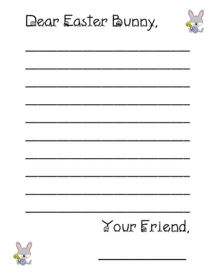 letter a ideas easter writing paper easter bunny writing and easter 6827