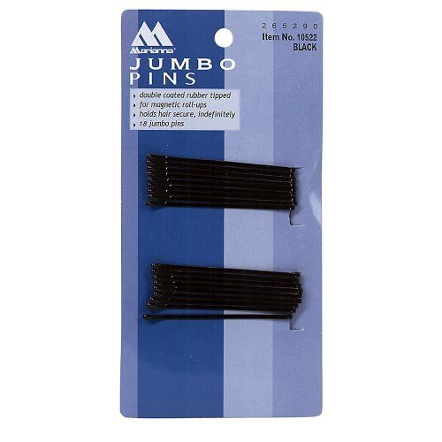 Jumbo Roller Pins by Marianna. $1.49. Holds hair secure indefinitely. Rubber tipped. Flexible, yet durable. Marianna Jumbo Roller Pins are durable to last a long time.