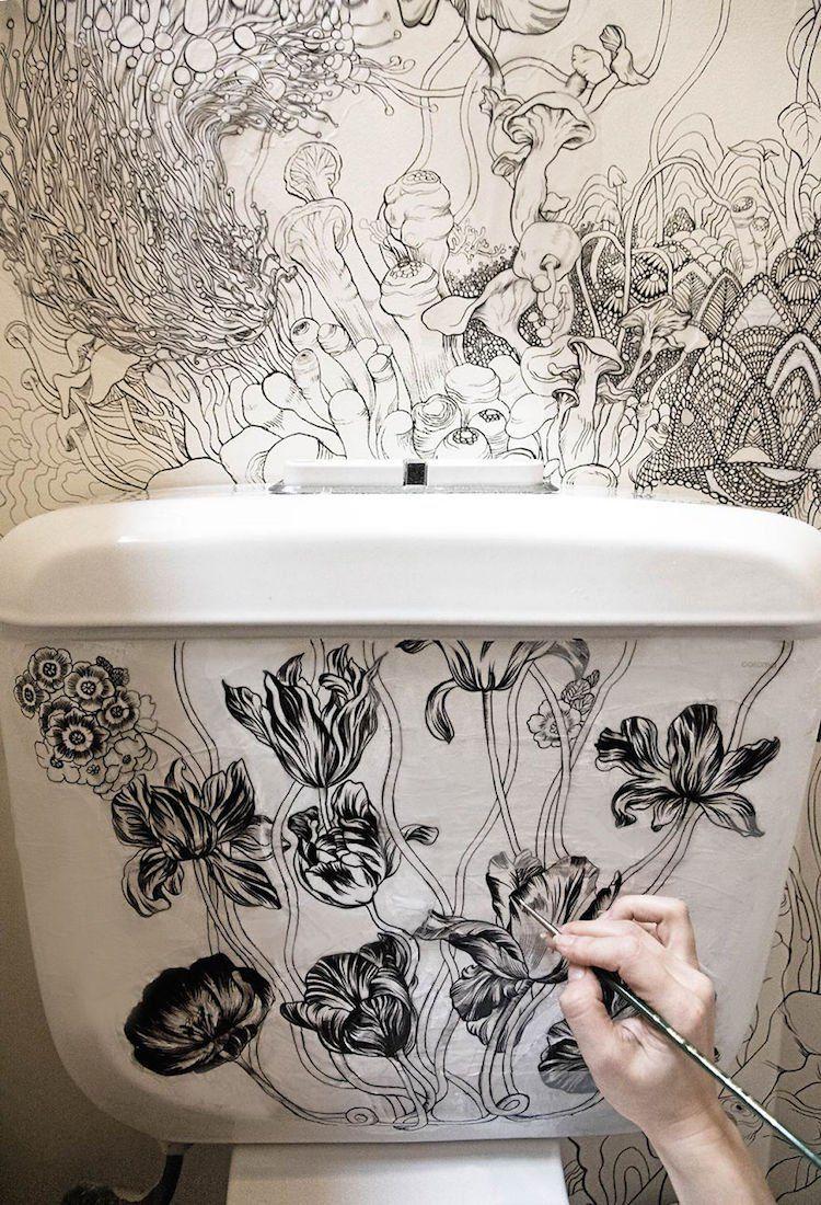Roza khamitova diseno vater cuarto de bano art wall pinterest