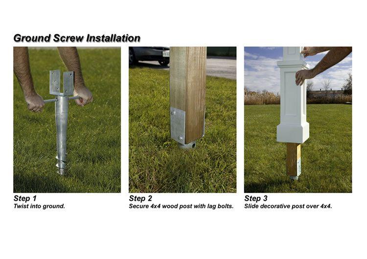 Mayne 4x4 Ground Screw For Mailbox Posts Mailbox Installation