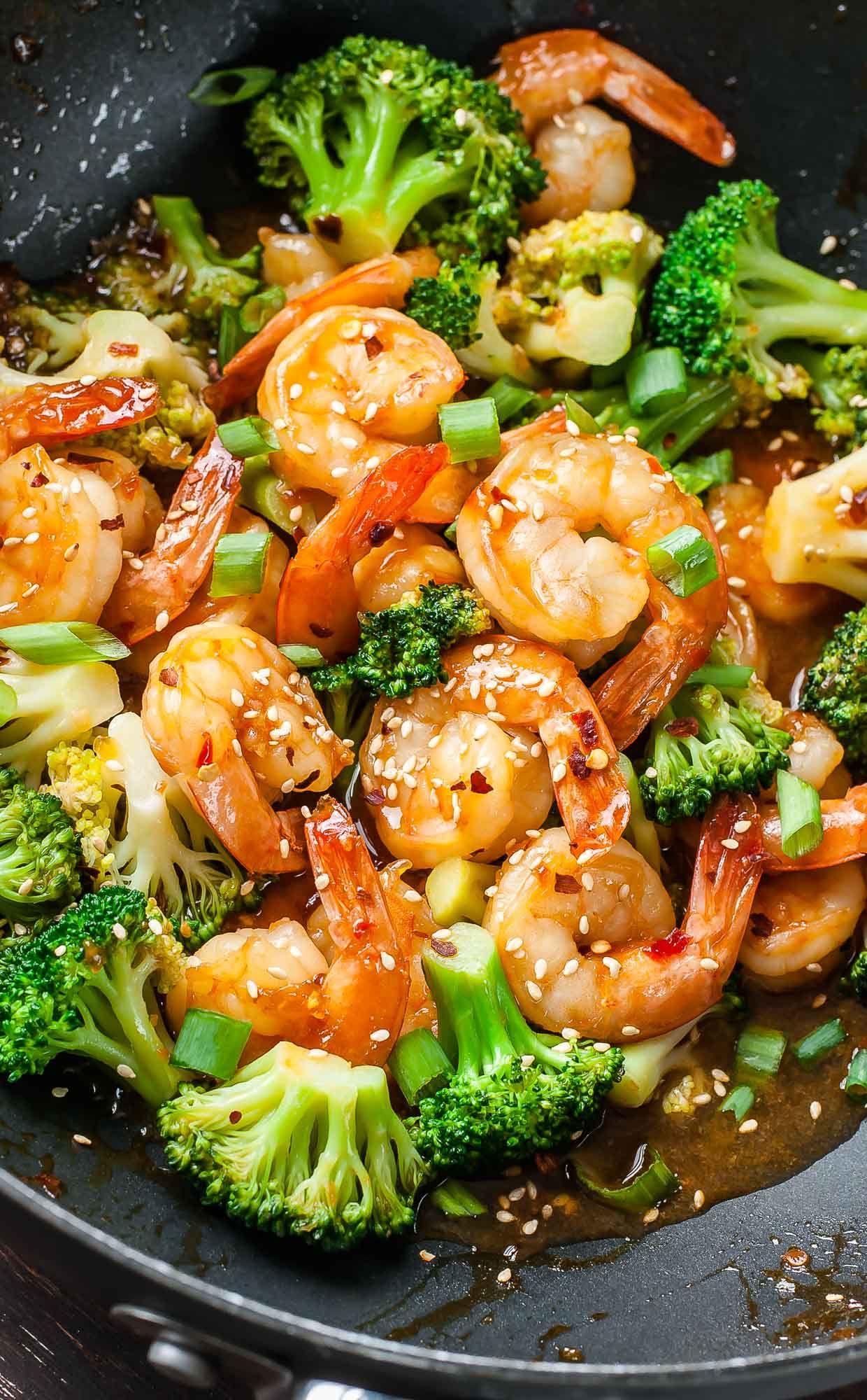 Szechuan Shrimp and Broccoli - Peas And Crayons