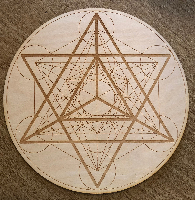 Merkaba Metatron S Cube Crystal Grid Altar Decoration Sacred