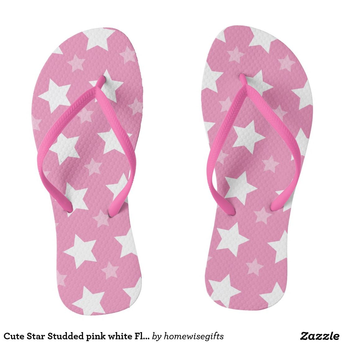 6df6d45fc Cute Star Studded pink white Flip flops Sandals in 2018