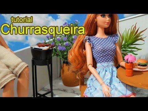 Como fazer uma churrasqueira para boneca Barbie, Monster High, Frozen, EAH, Equestria Girls, etc - YouTube
