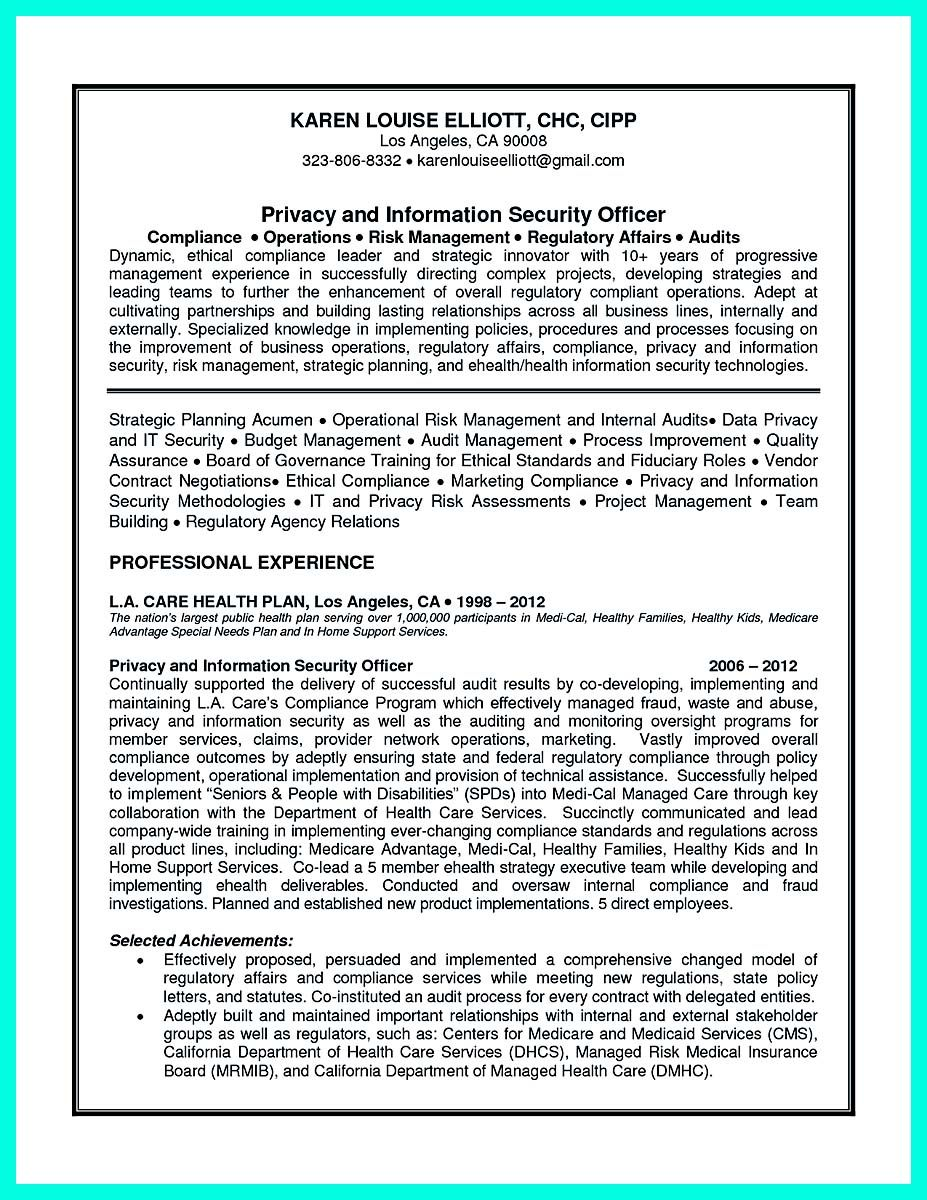 Nice Best Compliance Officer Resume To Get Manager S Attention Check More At Http Snefci Org Best Resume Objective Examples Resume Objective Compliance Jobs