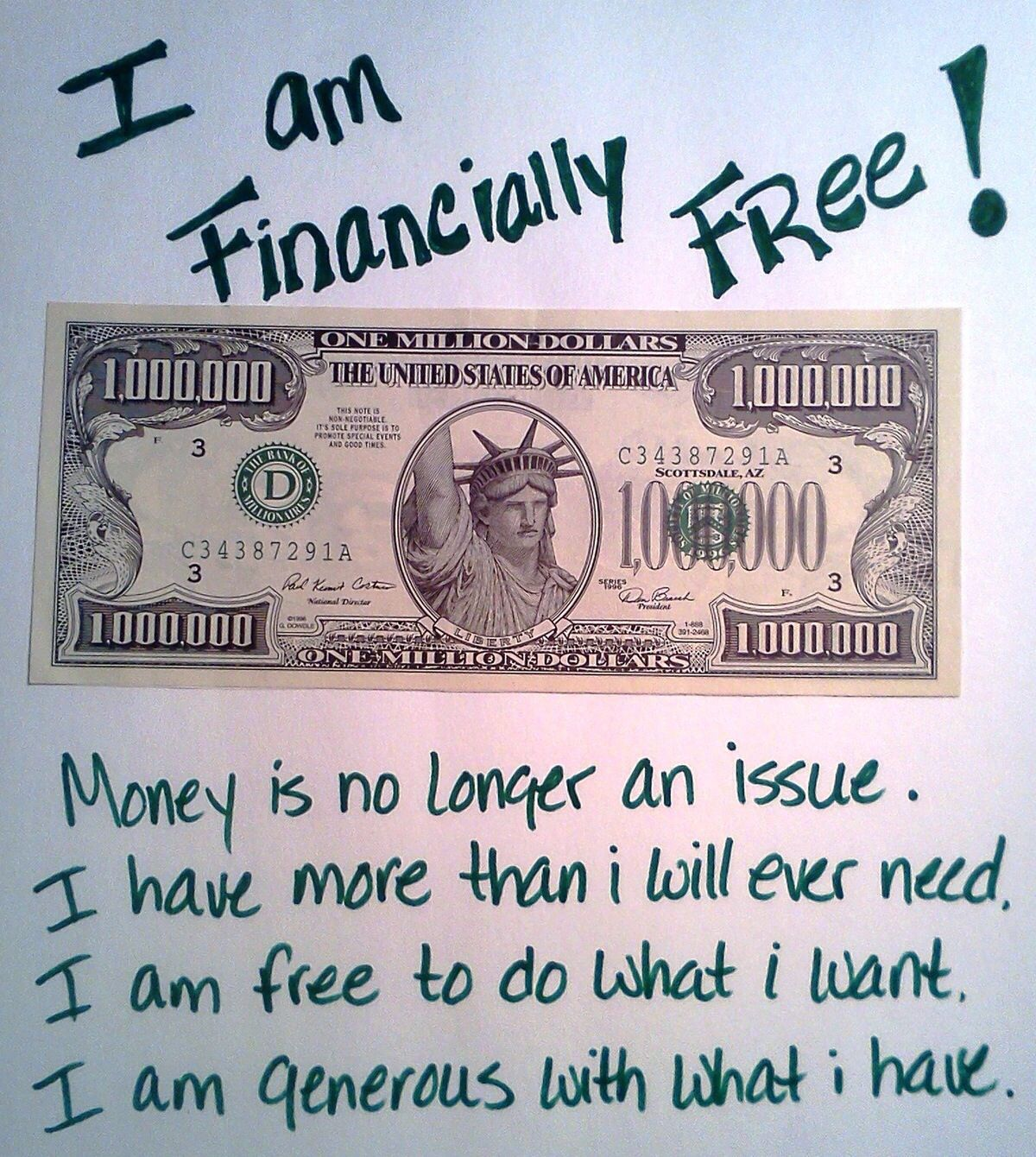 My Hard Work And Dedication Will Gain Me Financial Freedom