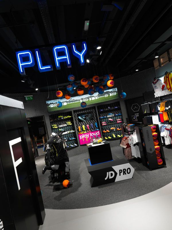Jd Pro Play Overview Store Design Branding Design