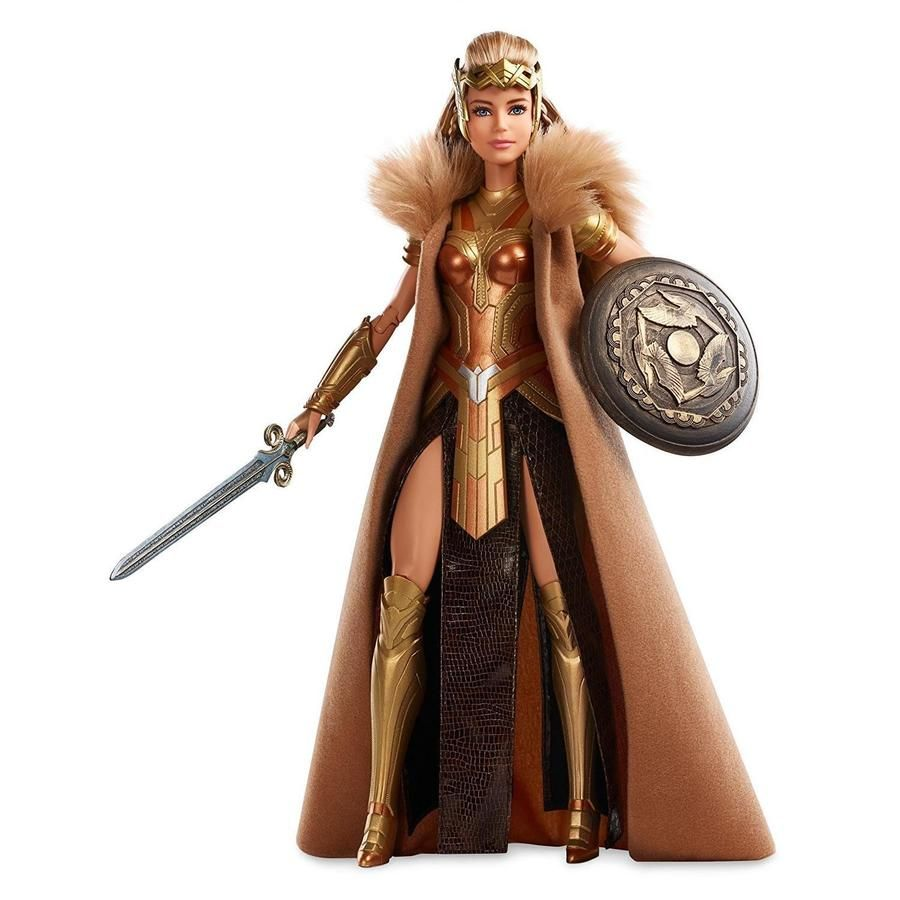 New Barbie Wonder Woman Antiope DC Comics doll black label Film Mattel DWD84
