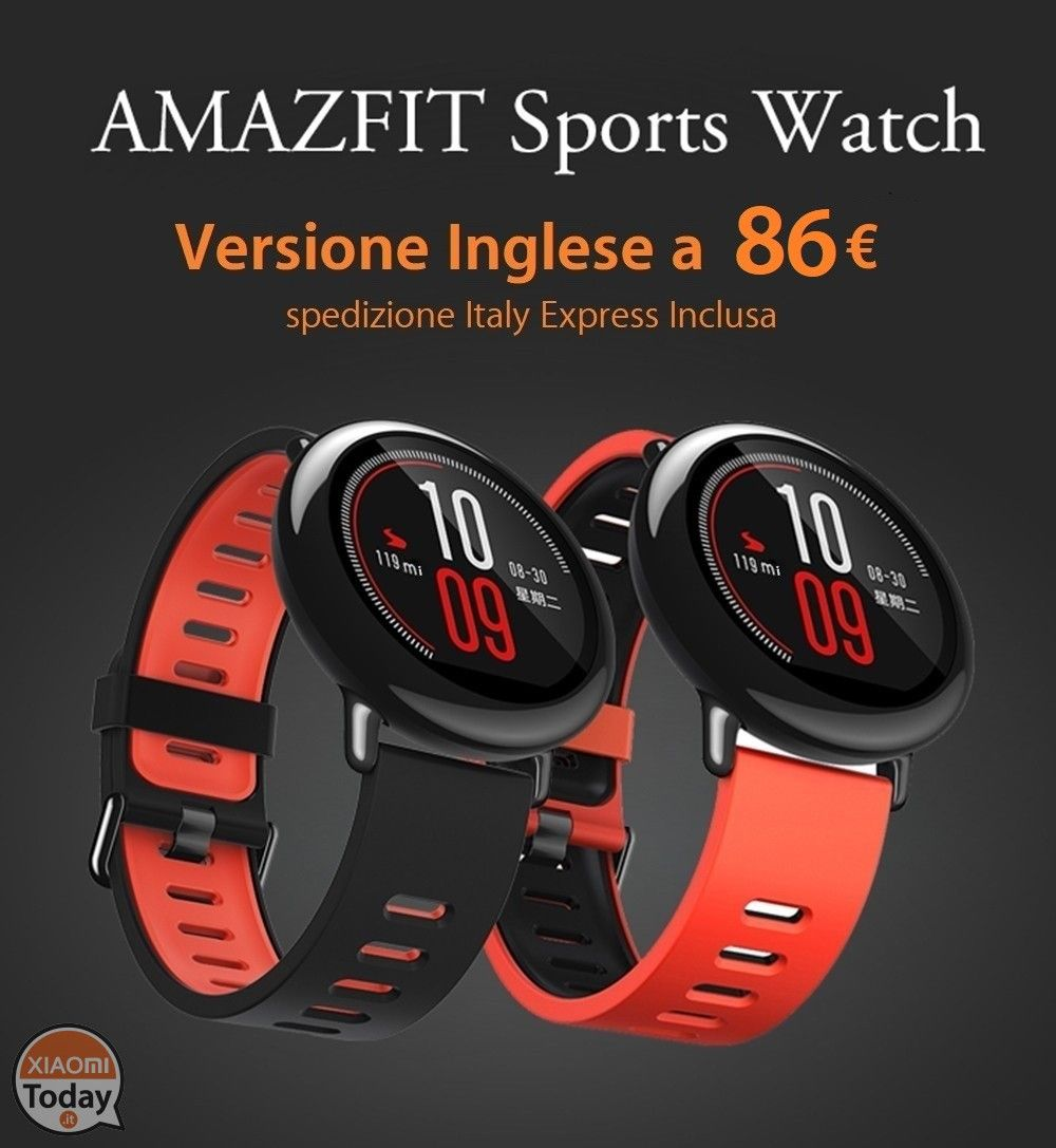 Xiaomi AmazFit Internazionale A 72€ Garanzia 2