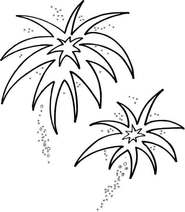 free printable new year fireworks coloring pages for kindergarten - Firework Coloring Pages Printable
