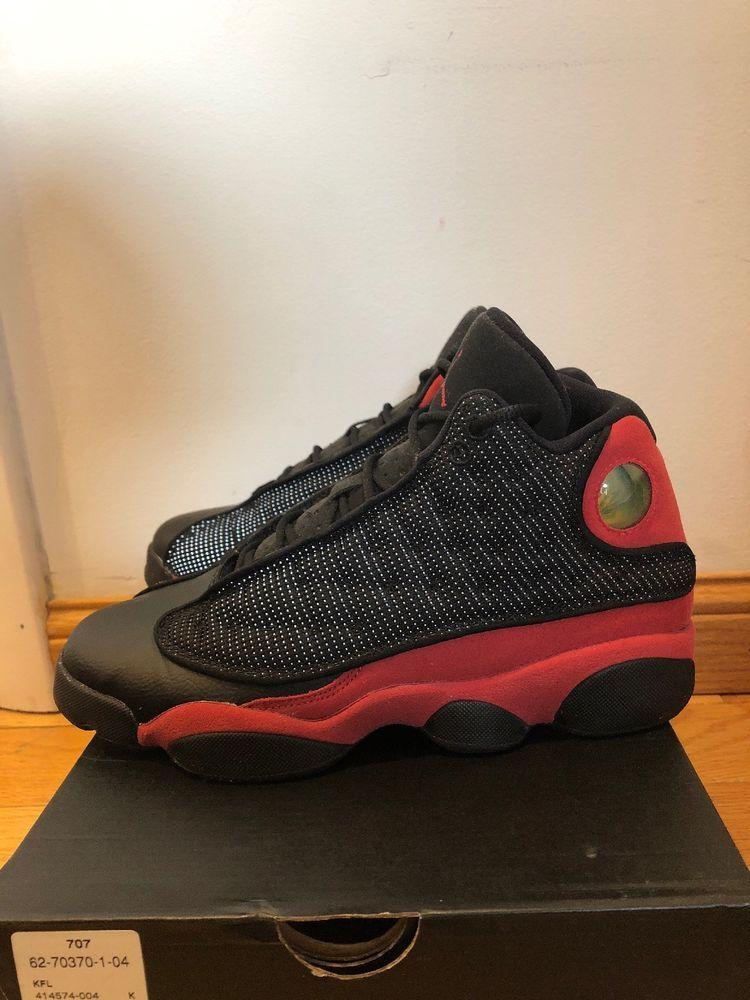 935f77f43f 2017 Nike Air Jordan 13 XIII Retro OG BG SZ 6.5Y Black Red BREDS OG  414574-004  fashion  clothing  shoes  accessories  kidsclothingshoesaccs   boysshoes ...