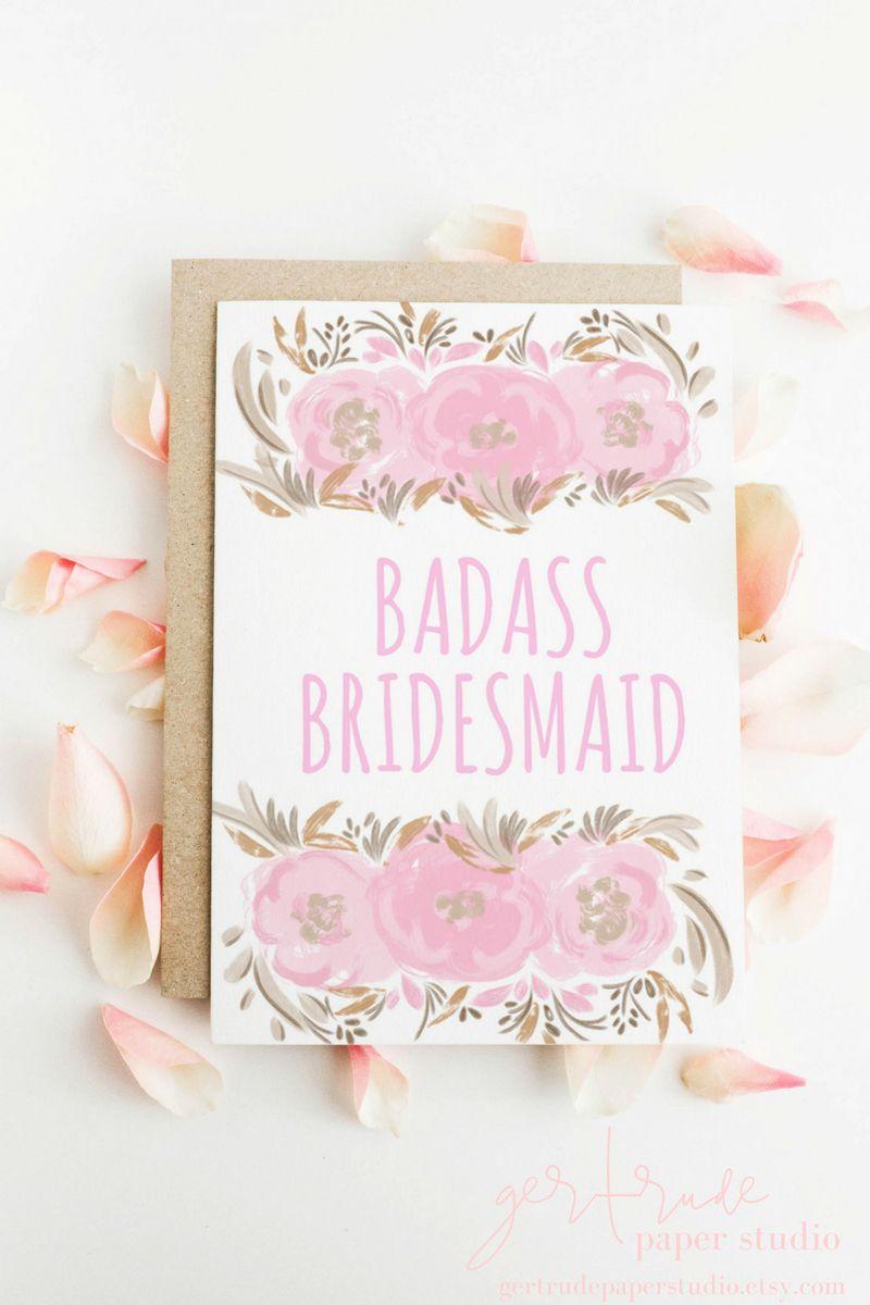 Bridesmaid Card Will You Be My Bridesmaid Proposal Bride Tribe