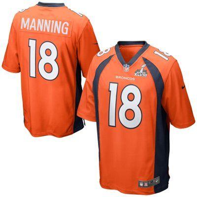 Nike Peyton Manning Denver Broncos Super Bowl XLVIII Game Jersey - Orange
