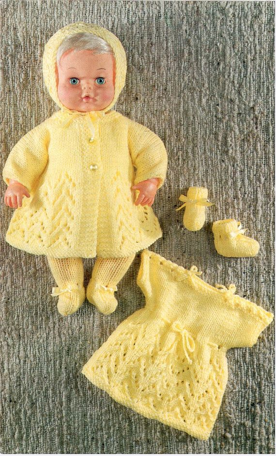 DOLL KNITTING PATTERN for doll 12 inches and 16 by carolrosa | Dollz ...