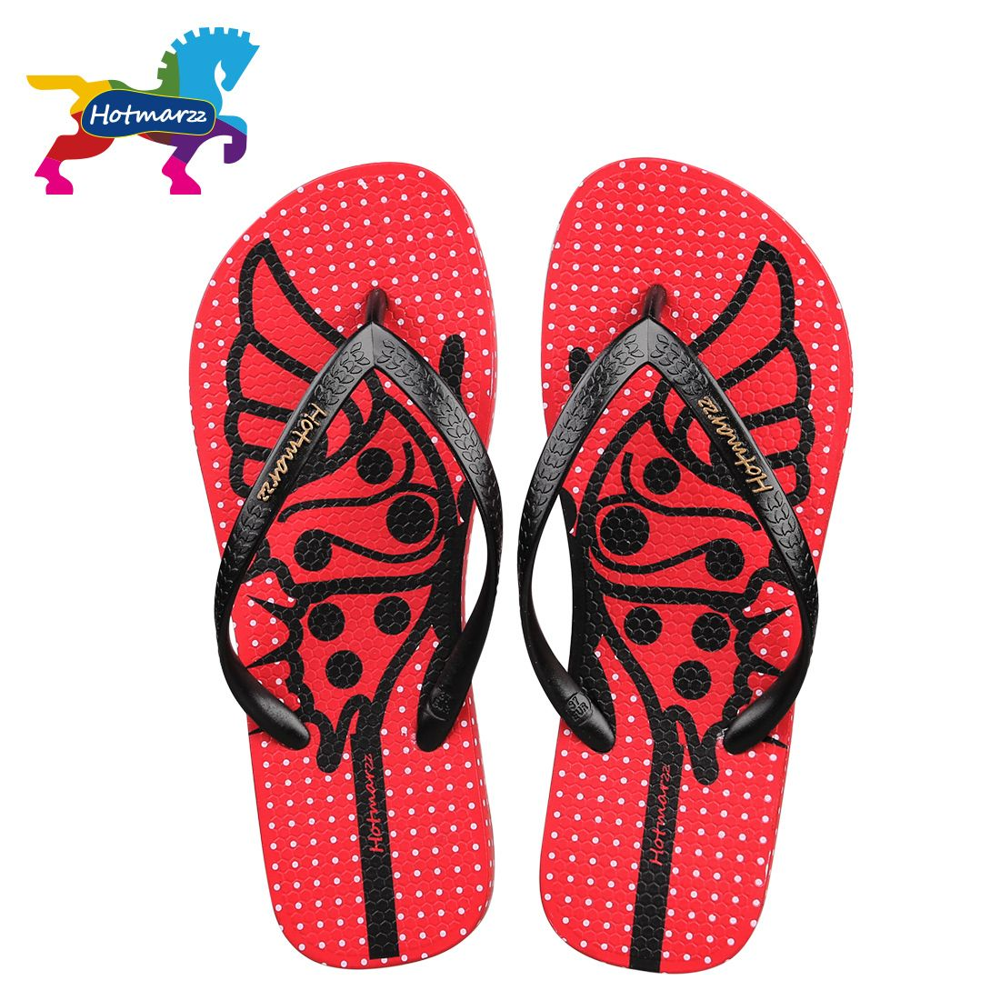 Hotmarzz Women Comfy Anti-skid Fashion Butterfly Flip Flops Ladies ...