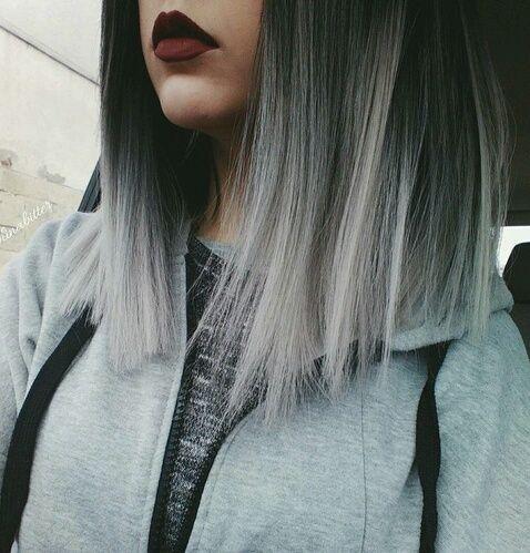 Cabello corto gris tumblr