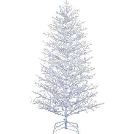 GE Pre-Lit 7' Winterberry Artificial Christmas Tree, White - GE Pre-Lit 7' Winterberry Artificial Christmas Tree, White Xmas