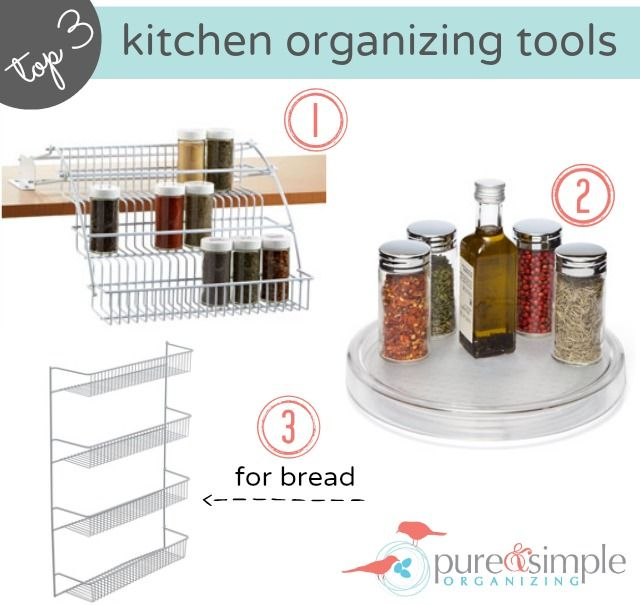 Kitchen Organization Tools: Top 3 Kitchen Organizing Tools. Spice Rack Storage. How To