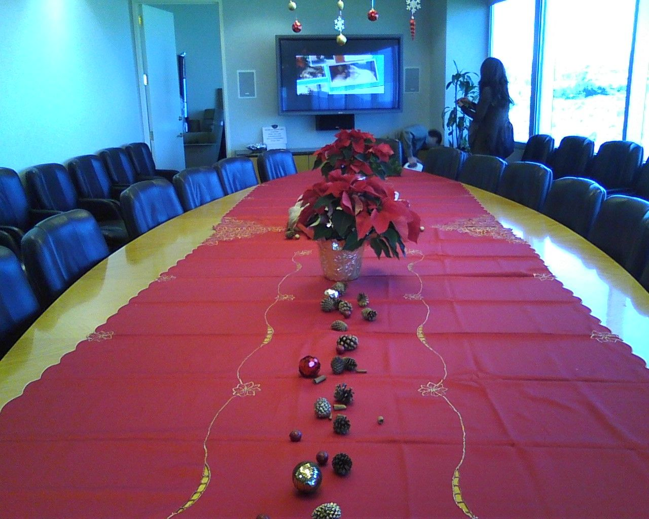 Holiday Party Decor Ideas Part - 44: Decorating The Boardroom For Our Office Holiday Party