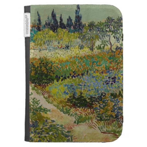 Garden At Arles By Vincent Van Gogh Kindle Folio Cases