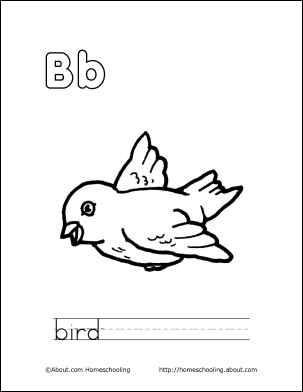 preschool bird coloring pages - photo#41