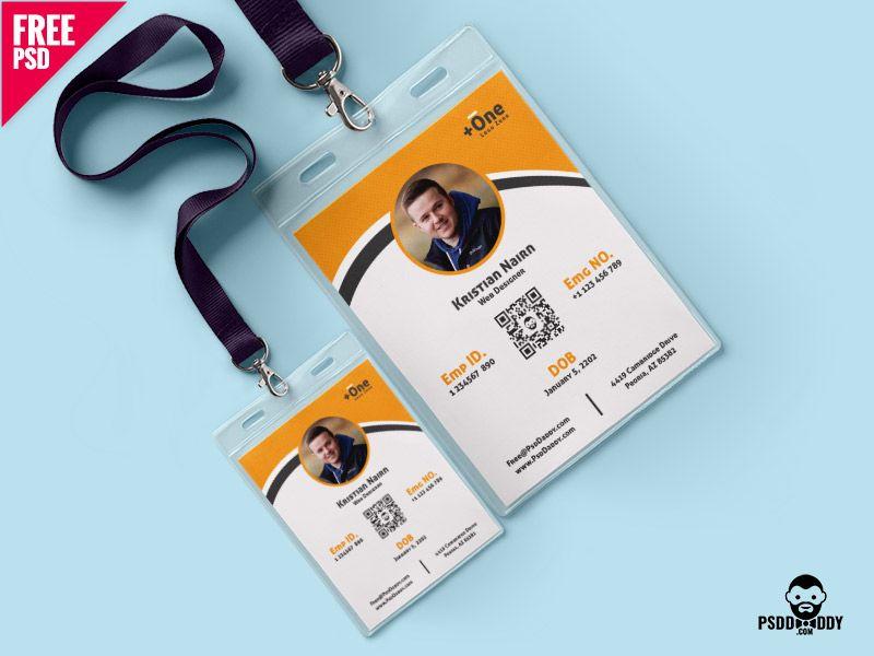 Multipurpose Photo Identity Card Template Psd Id Card Template