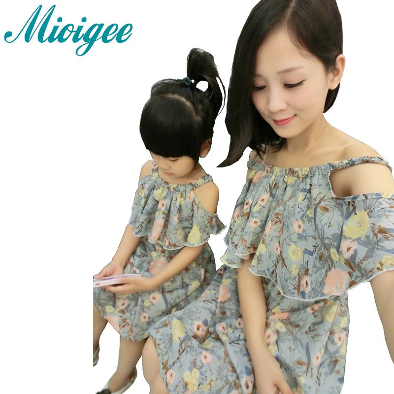 b259d79766 Click to Buy << Mioigee 2017 summer fashion mother daughter dresses family  matching clothes mother and daughter clothes anne kiz giyim mae e fil  #Affiliate