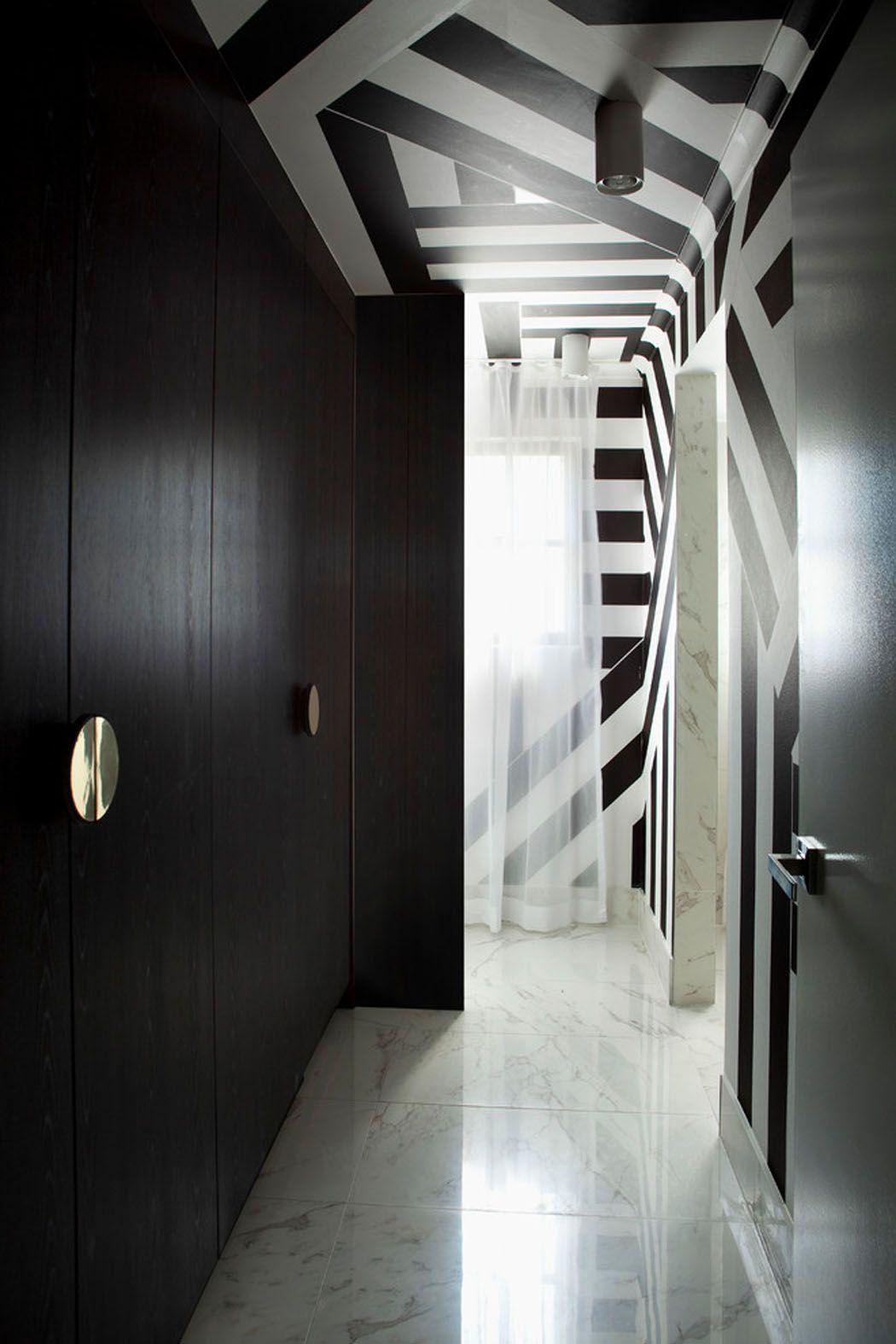 Deco Couloir Noir Et Blanc