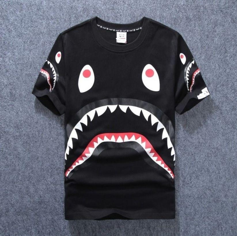 63c2f2fbd Unisex A BATHING APE Men Causal TEE BAPE Short Sleeve T-shirt Ape Shark Jaw  Tops - Shark Tshirt - Latest Shart Tshirt ideas #sharktshirt #shark #tshirt