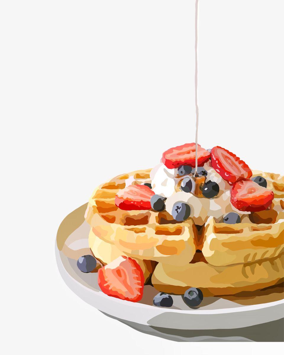 Waffles Illustration