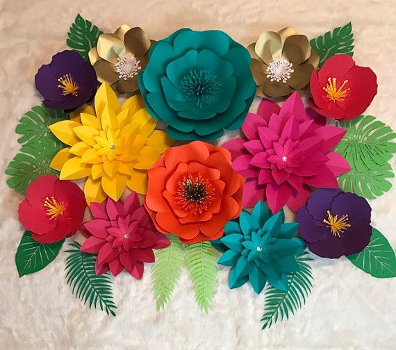 Large Paper Flower BackdropTropical Backdrop