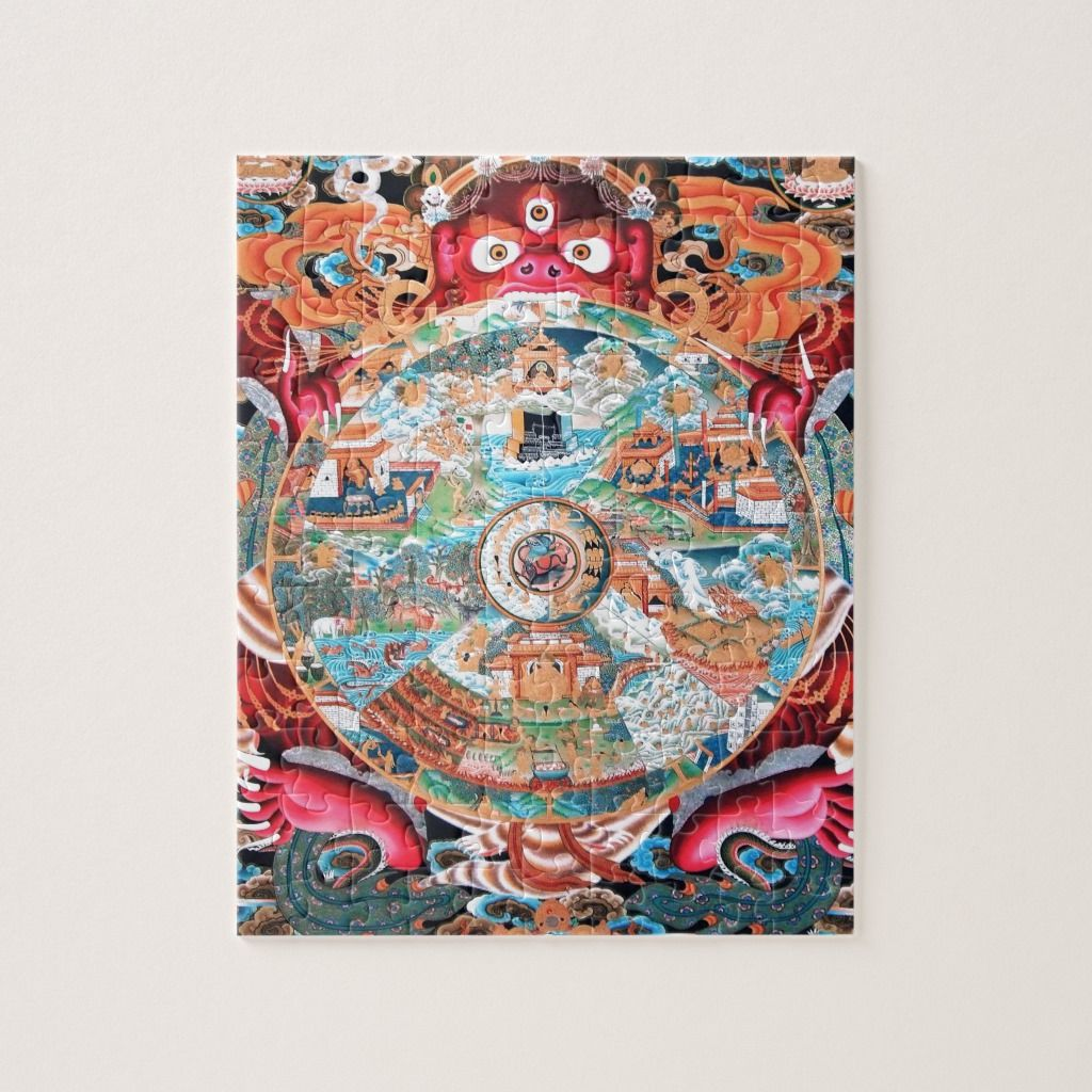 Tibetan Buddhist Art (Wheel of Life) Jigsaw Puzzle
