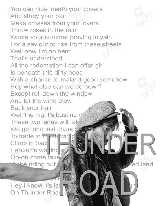 Thunder Road Bruce Springsteen