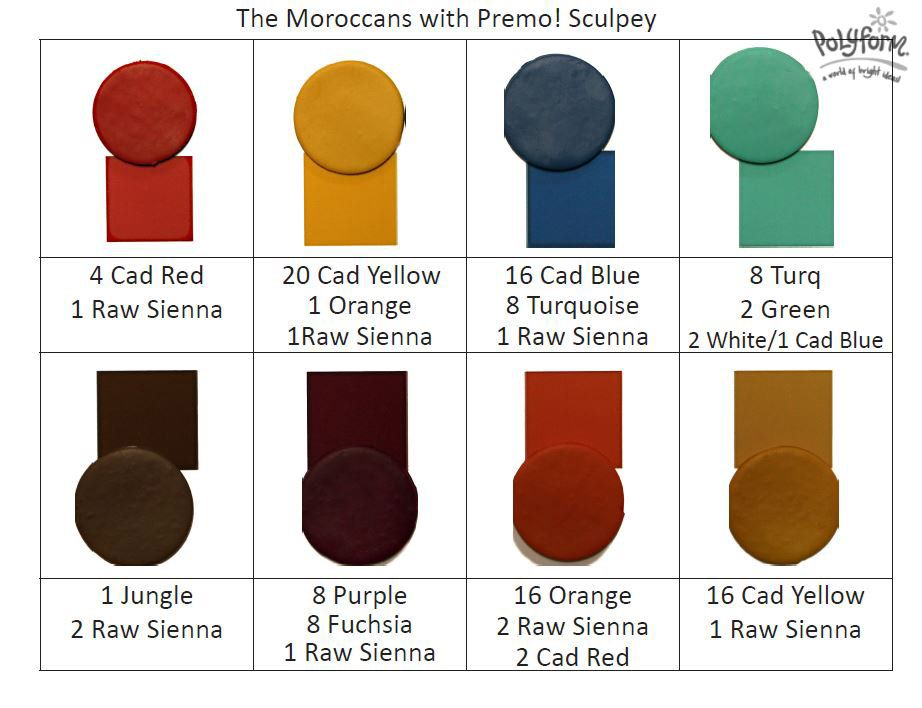 Moroccan Colors Polymer Clay Colormix Polymer Clay Color