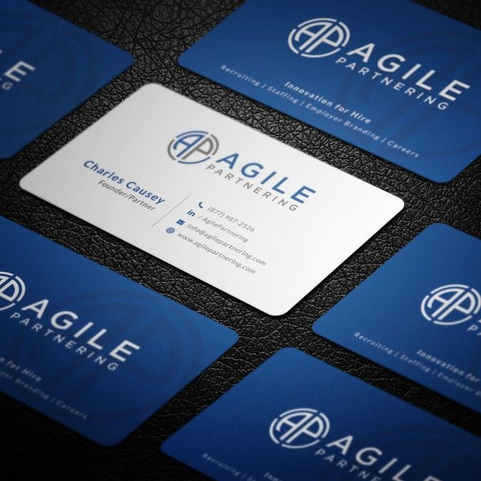 Professional Sharp Modern Business Card For Established Brand Staffing Company Logo Alr Modern Business Cards Professional Logo Business Make Business Cards