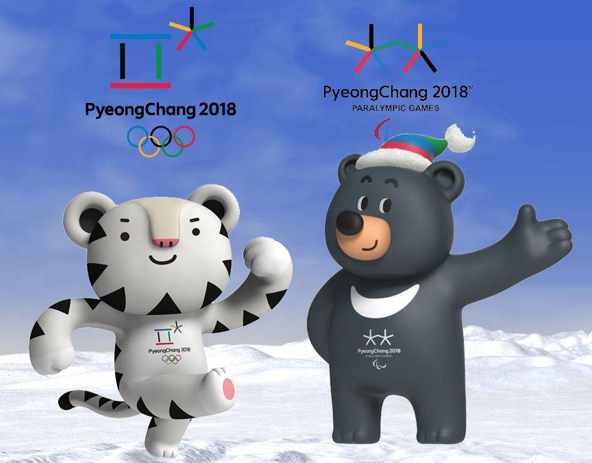 Kleurpaten Mascottes Pyeongchang Olympische Winterspelen