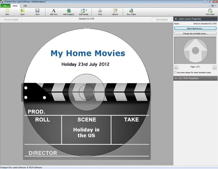 Disketch Disc Label Software-Create CD/DVD labels and covers Design