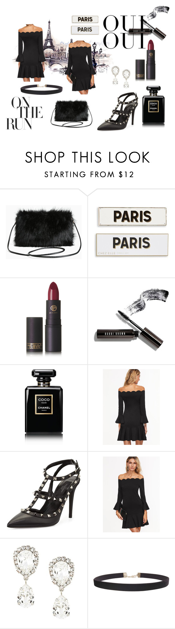"""Dressy In Black"" by mariliiskaar ❤ liked on Polyvore featuring Torrid, Rosanna, Lipstick Queen, Bobbi Brown Cosmetics, Chanel, Valentino, Oui, Dolce&Gabbana and Humble Chic"