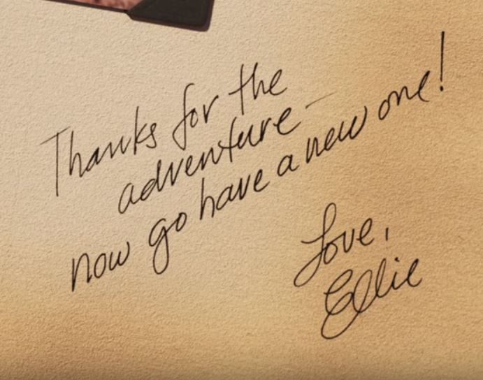 Disney's UP: Ellie's message to Carl in her Adventure Book | Senior