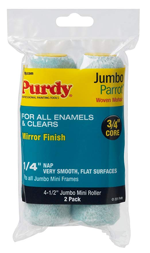Amazon Com Purdy 140626040 Jumbo Mini Parrot Roller Replacement 2 Pack 6 1 2 Inch X 1 4 Inch Nap Home Improvement In 2020 Roller Paint Rollers With Designs Purdy