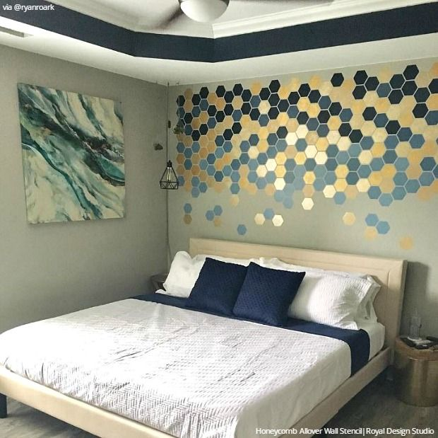 Easy Stencil Ideas That Are Insta-Inspiring! | Bedroom ...