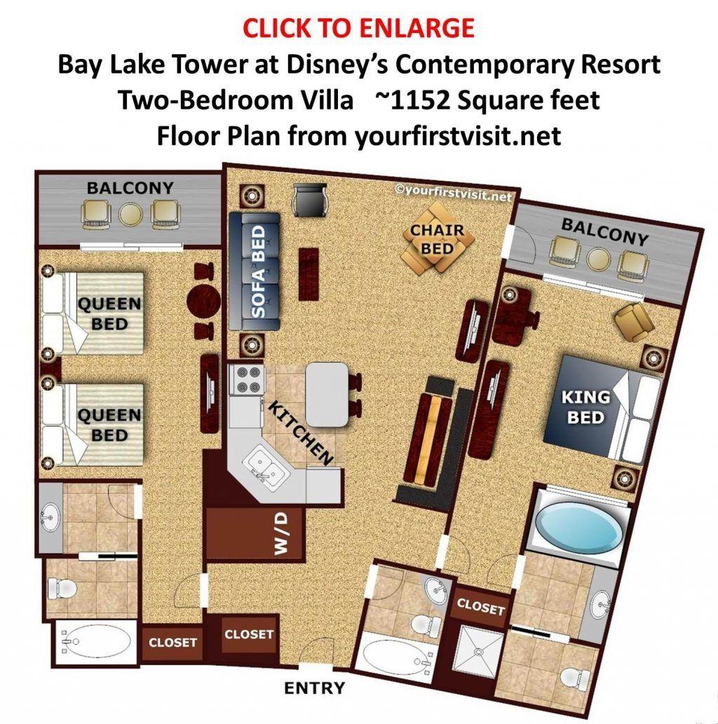 Disney Bay Lake Tower Floor Plan Nuithonie Com One Bedroom Villa Studio 2 Babcc Disney Contemporary Resort Bay Lake Tower Bay Lake Tower Disney