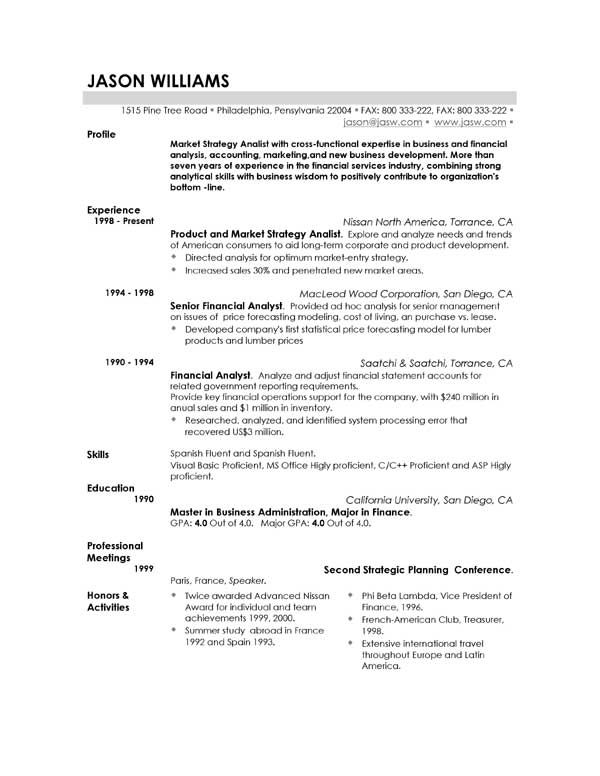 Really Good Resume Examples, Really Good Resume Examples ...