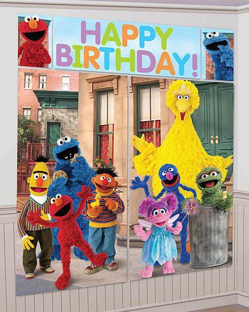 Sesame Street Scene Setter Kit Sesame Street Background Sesame Street Party Favors Sesame Street Birthday Party Sesame Street Decorations