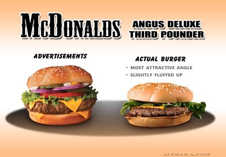 How McDonalds burgers are photographed
