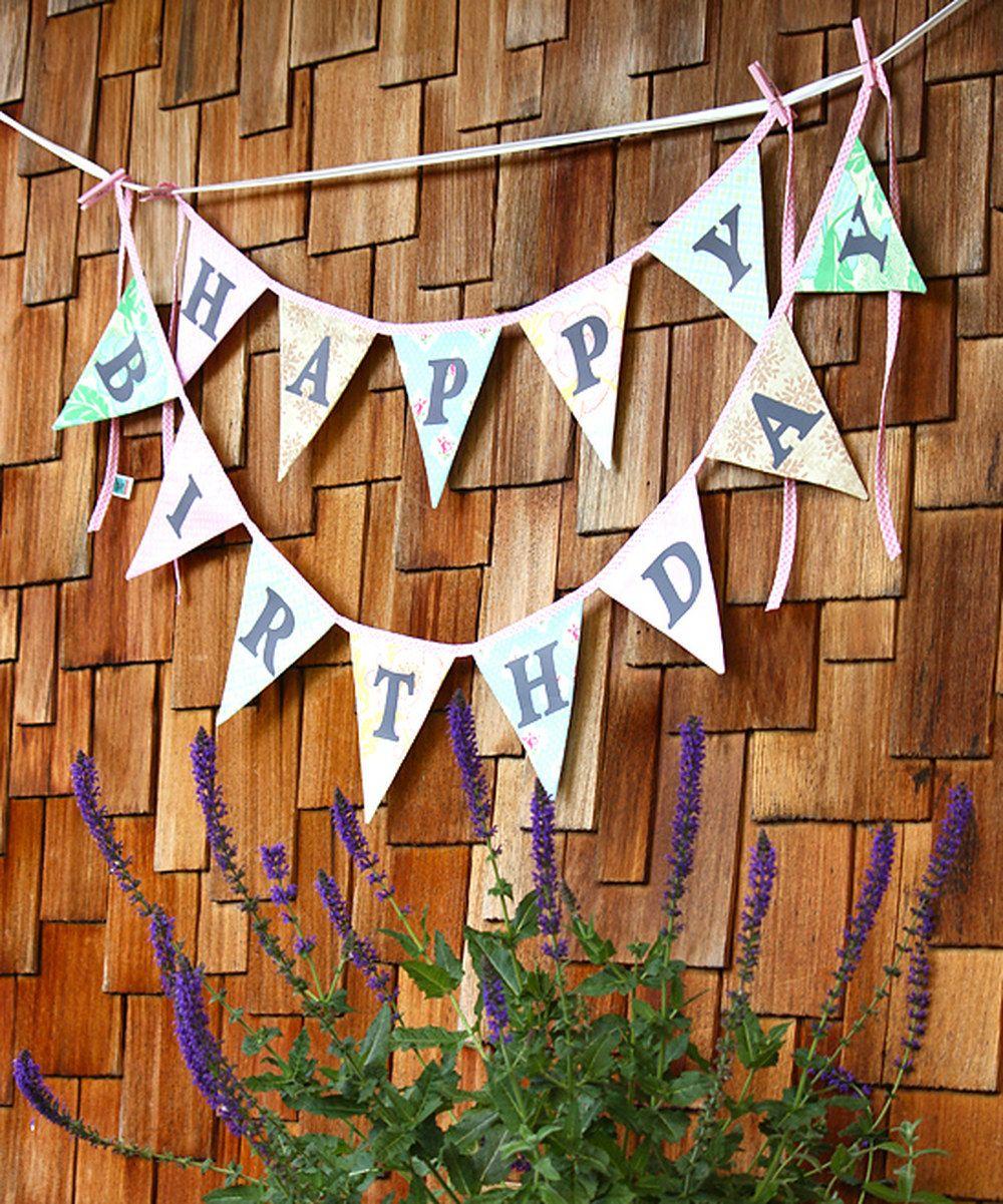 Love this Tea Party Happy Birthday Banner by Starlit Nest on #zulily! #zulilyfinds