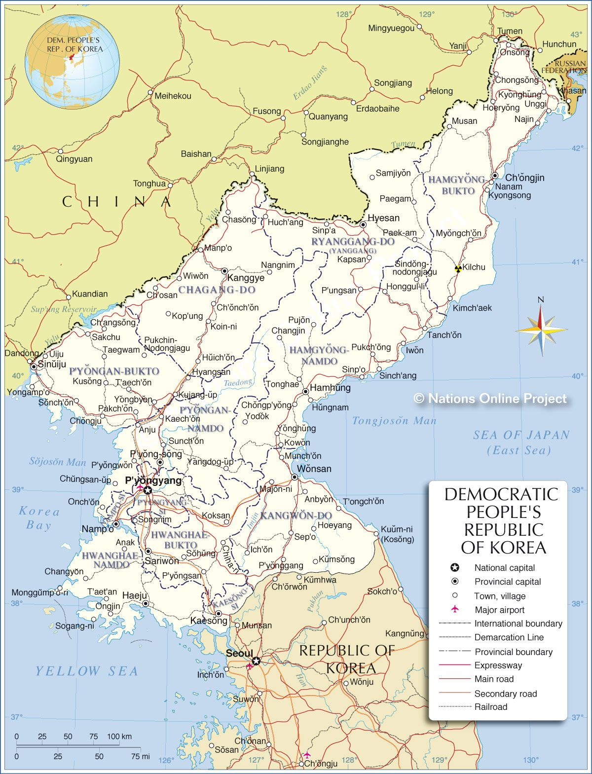 North korea map north korea pinterest north korea korea and asia map showing north korea and the surrounding countries gumiabroncs Image collections