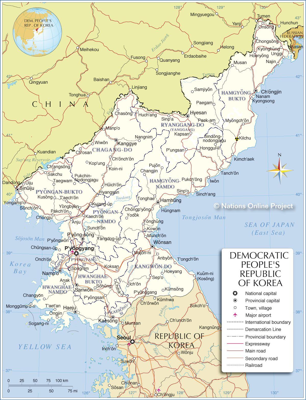 North korea map north korea pinterest north korea korea and asia map showing north korea and the surrounding countries gumiabroncs Images