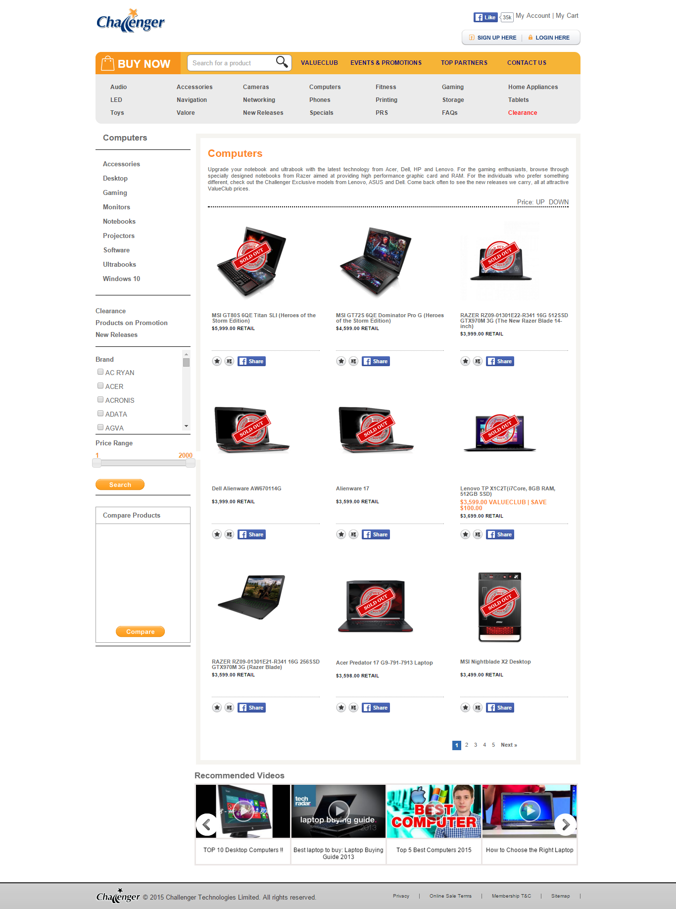 Interesting Sample Websites Examples For Companies Selling Laptops